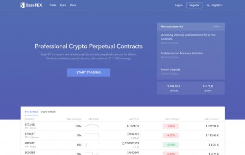 BaseFex crypto margin trading platform