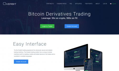 Overbit crypto margin trading platform