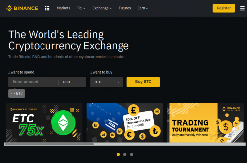 Binance high leverage Crypto Futures trading