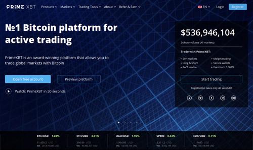 PrimeXBT Bitcoin Margin Broker