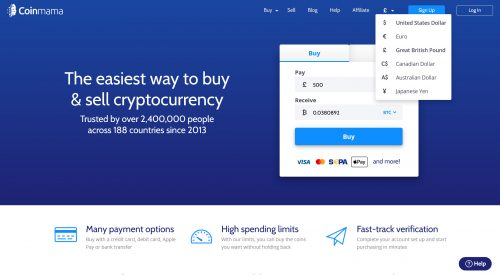 CoinMama – highly trusted alternative exchange to Coinbase